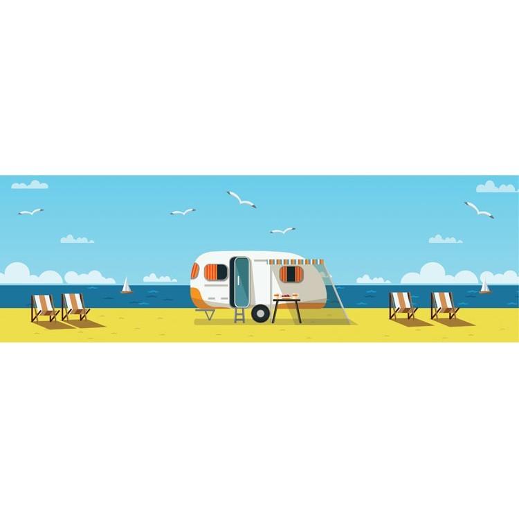 Tροχόσπιτο στην παραλία, Κόμικ, Κρεμάστρες & Καλόγεροι