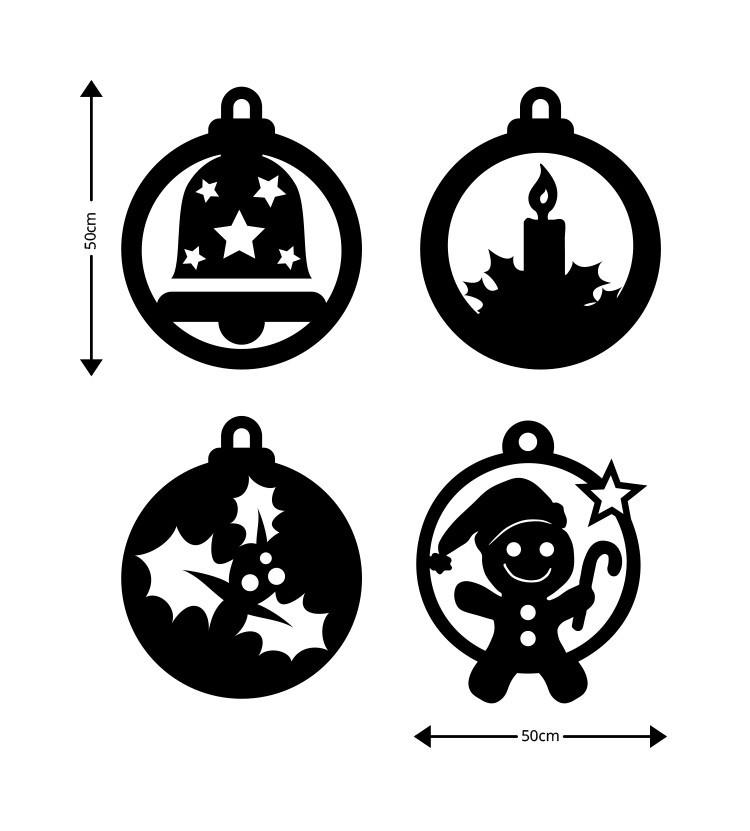 Χριστουγεννιάτικα Στοιχεία, Ξύλινες Καρτολίνες, Καρτολίνες κρεμαστές