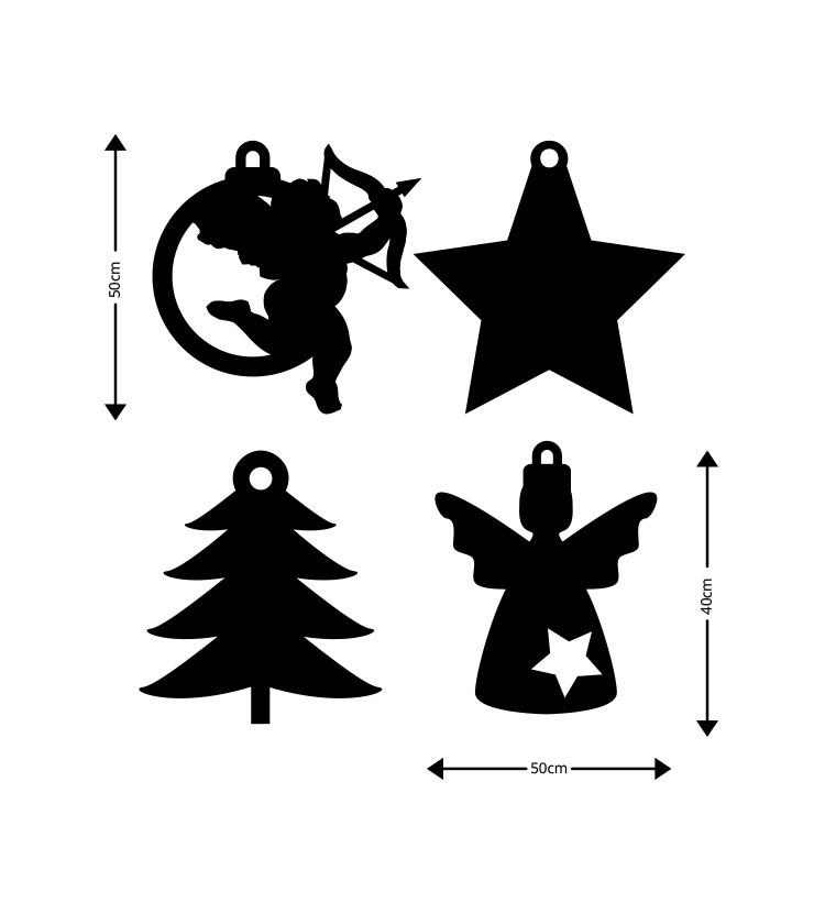 Αγγελάκια-Αστέρι-Δεντράκι, Ξύλινες Καρτολίνες, Καρτολίνες κρεμαστές