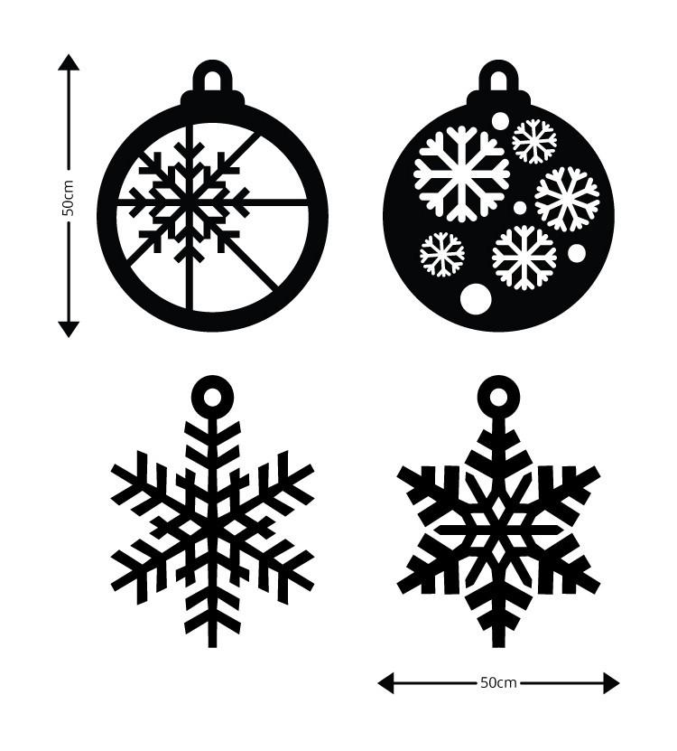 Χιονονιφάδες, Ξύλινες Καρτολίνες, Καρτολίνες κρεμαστές