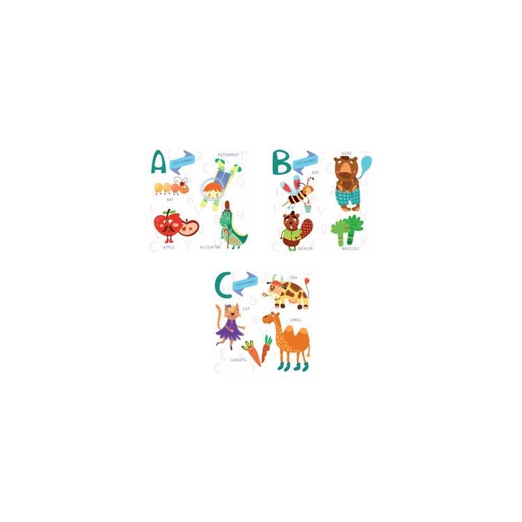 Abc..., Παιδικά, Mini Set καμβάς