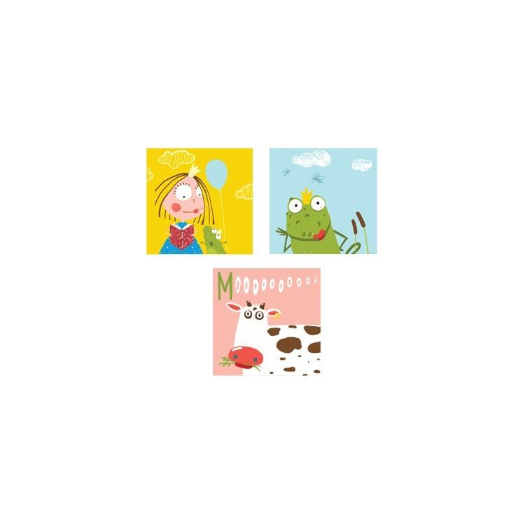 Η νεράιδα και ο βάτραχος, Παιδικά, Mini Set καμβάς