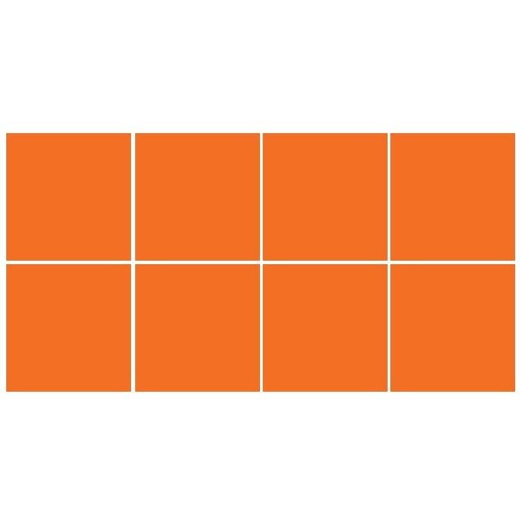 Orange (8 τεμάχια), Μονόχρωμα - Πολύχρωμα, Αυτοκόλλητα πλακάκια