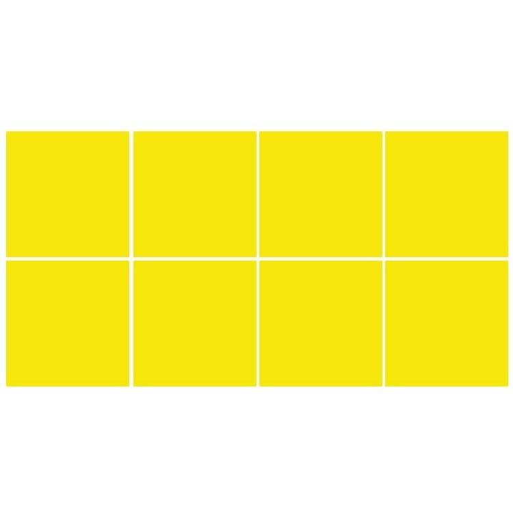 Lemon yellow (8 τεμάχια), Μονόχρωμα - Πολύχρωμα, Αυτοκόλλητα πλακάκια