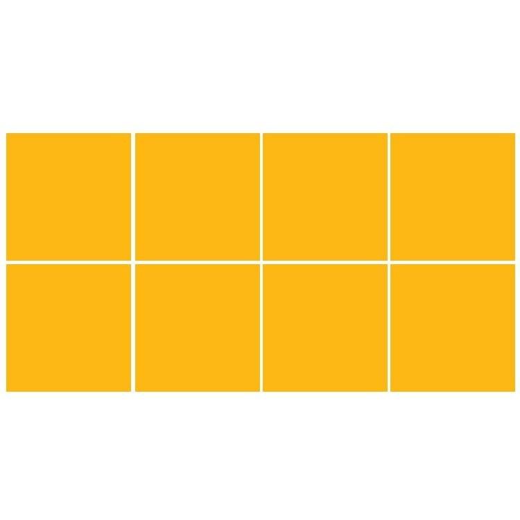 buttercup (8 τεμάχια), Μονόχρωμα - Πολύχρωμα, Αυτοκόλλητα πλακάκια