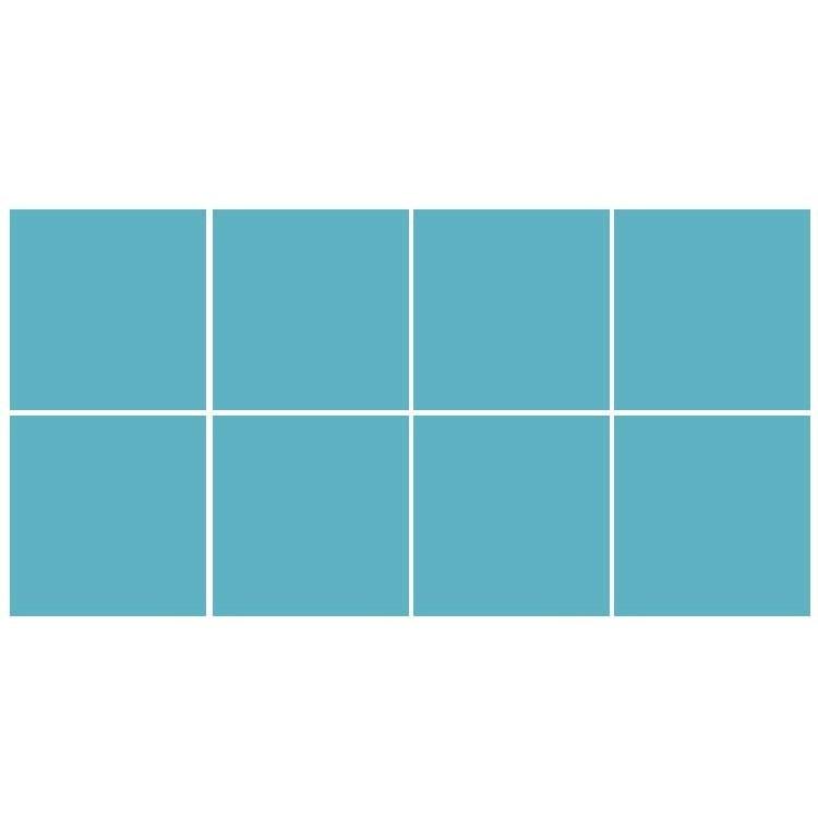 Light blue (8 τεμάχια), Μονόχρωμα - Πολύχρωμα, Αυτοκόλλητα πλακάκια