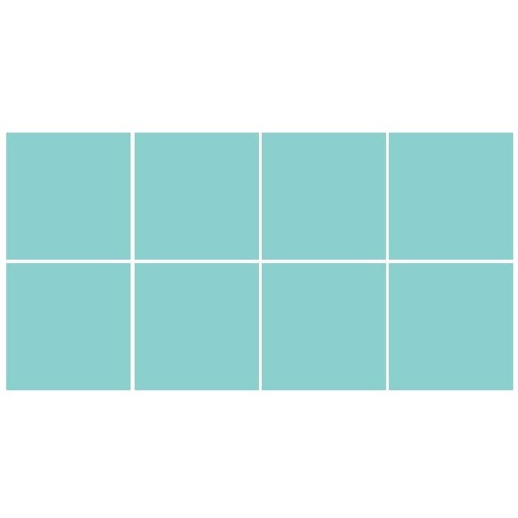 Lagoon blue (8 τεμάχια), Μονόχρωμα - Πολύχρωμα, Αυτοκόλλητα πλακάκια