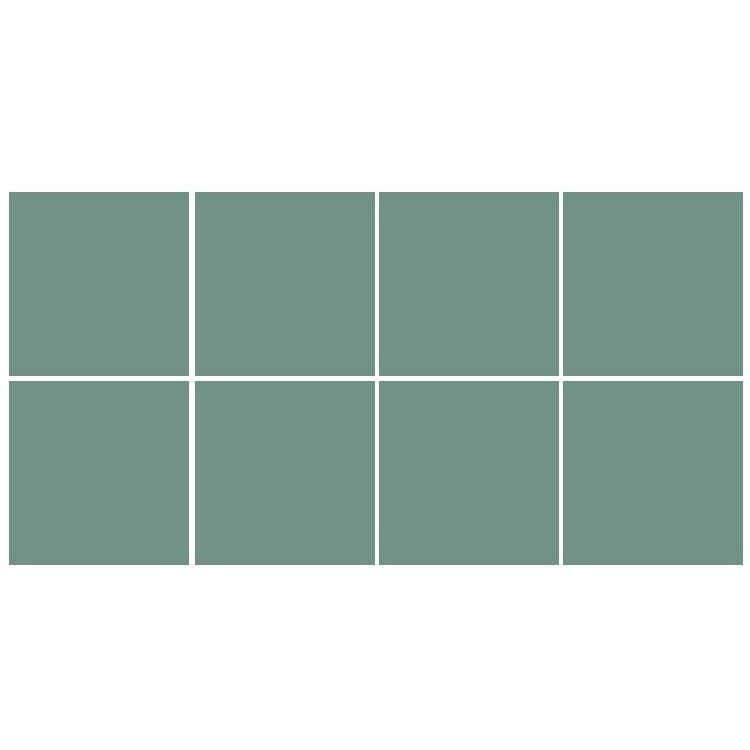 Pastel turquoise (8 τεμάχια), Μονόχρωμα - Πολύχρωμα, Αυτοκόλλητα πλακάκια