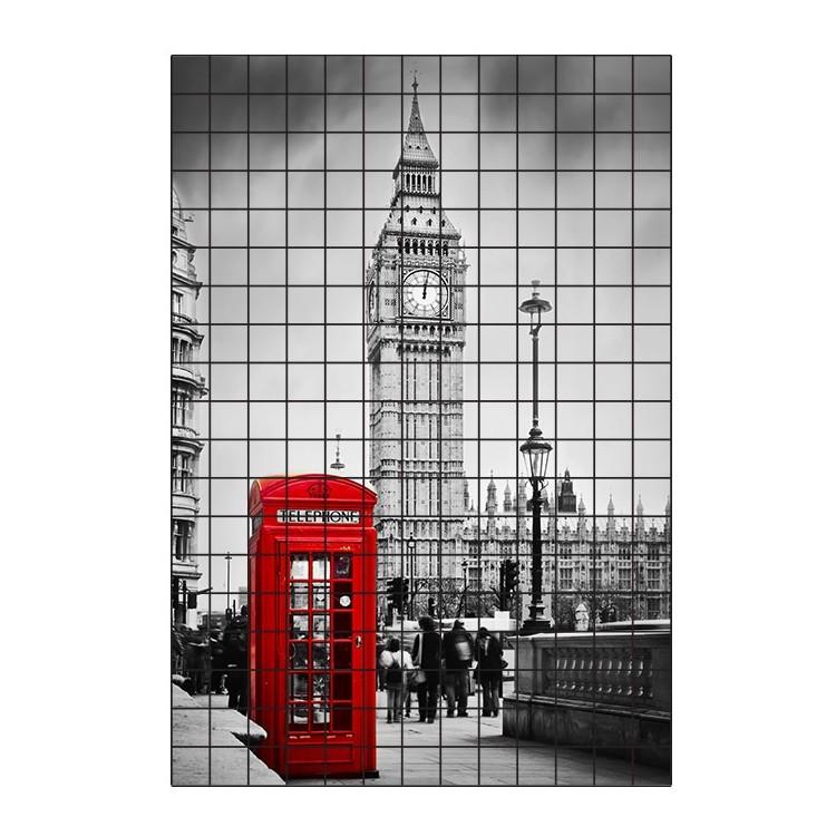 Λονδίνο, Φωτογραφίες, Αυτοκόλλητα πλακάκια