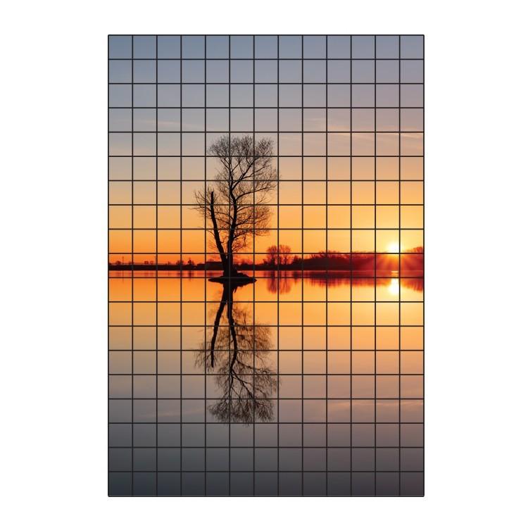 Ηλιοβασίλεμα στη λίμνη, Φωτογραφίες, Αυτοκόλλητα πλακάκια