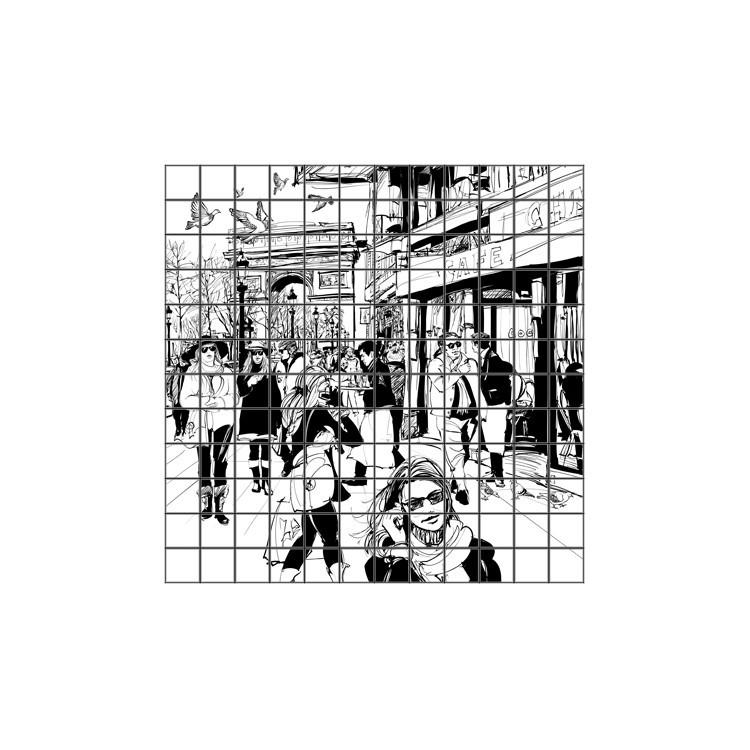 Παρίσι, Φωτογραφίες, Αυτοκόλλητα πλακάκια