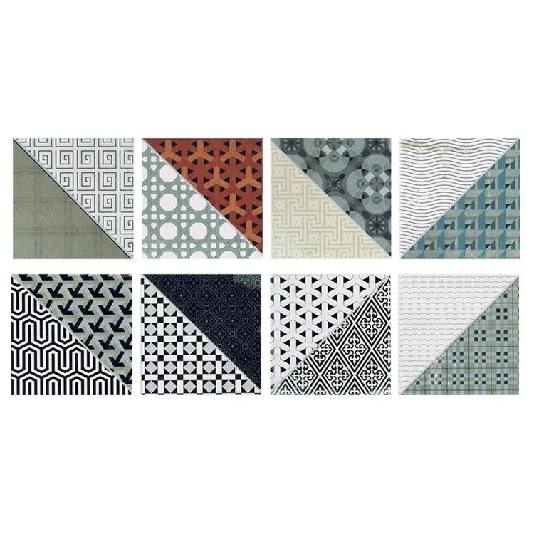 Πολύχρωμα μοτιβά τρίγωνα  (8 τεμαχία), Μοτίβα, Αυτοκόλλητα πλακάκια