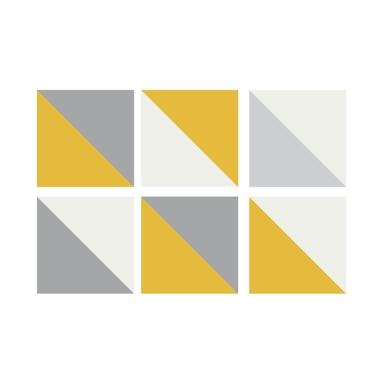 Γεωμετρικό μοτίβο (6 τεμάχια), Μοτίβα, Αυτοκόλλητα πλακάκια