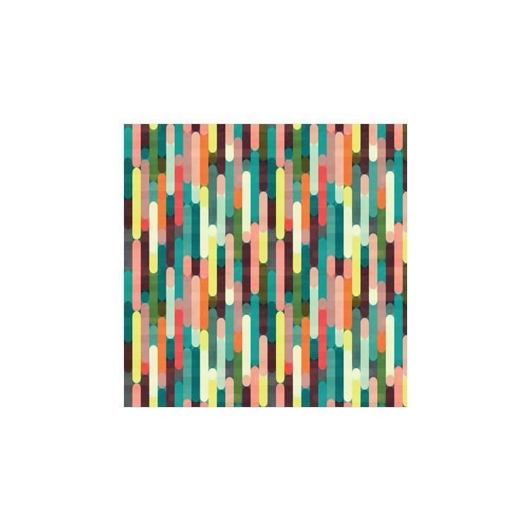 Ρετρό μοτίβο με ρίγες, Μοτίβα, Ρολοκουρτίνες