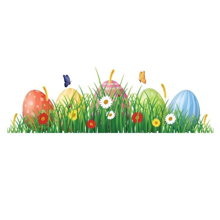 Πασχαλινά Αυγουλάκια Στο Γρασίδι, Πασχαλινά, Αυτοκόλλητα βιτρίνας