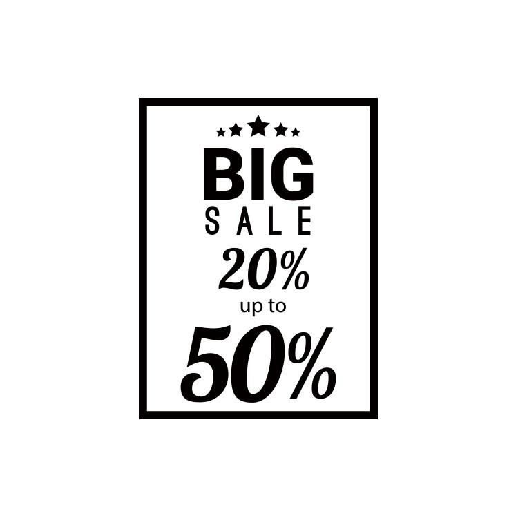 Big Sale, Εκπτωτικά, Αυτοκόλλητα βιτρίνας