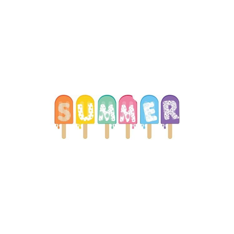Ice cream, Άνοιξη - Καλοκαίρι, Αυτοκόλλητα βιτρίνας