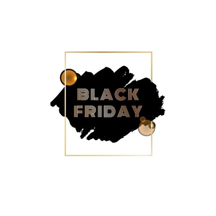Black Friday Gold, Εκπτωτικά, Αυτοκόλλητα βιτρίνας