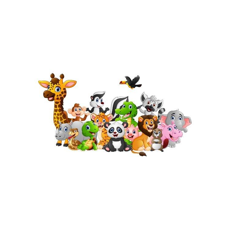 Ζώα του Δάσους, Παιδικά, Αυτοκόλλητα τοίχου