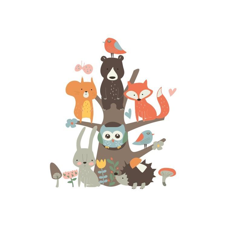 Ζώακια, Παιδικά, Αυτοκόλλητα τοίχου