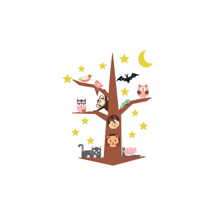 Ζωάκια του Δάσους, Παιδικά, Αυτοκόλλητα τοίχου