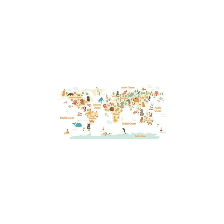 Παγκόσμιος Χάρτης, Παιδικά, Αυτοκόλλητα τοίχου