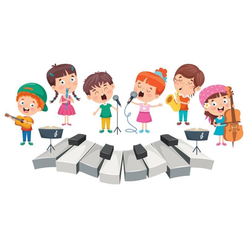 Πλήκτρα πιάνου, Παιδικά, Αυτοκόλλητα τοίχου