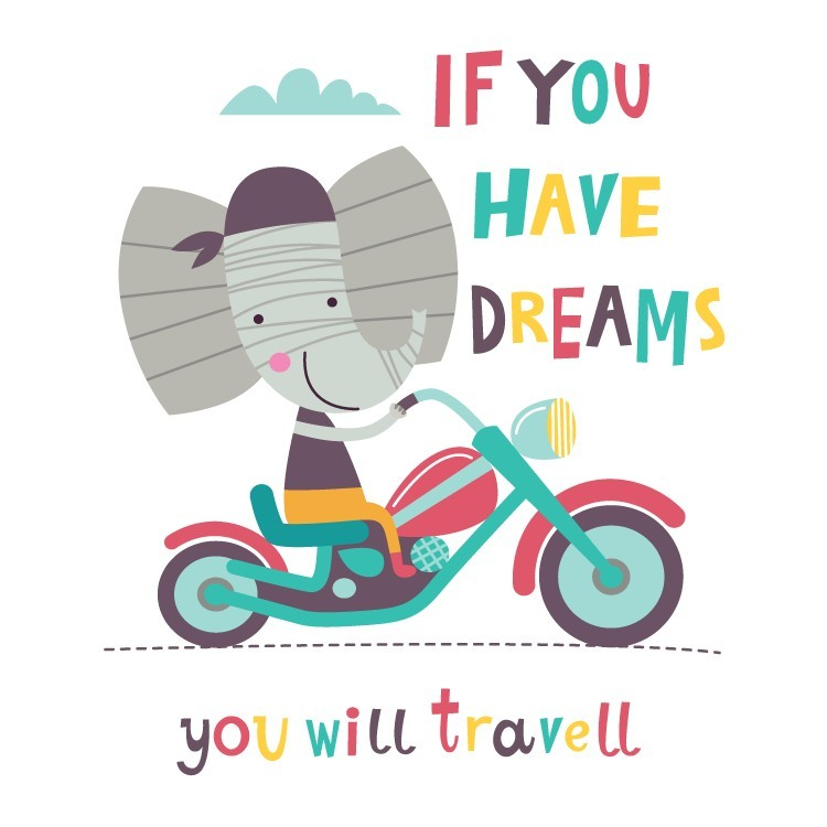 If you have dreams you will travel, Παιδικά, Αυτοκόλλητα τοίχου