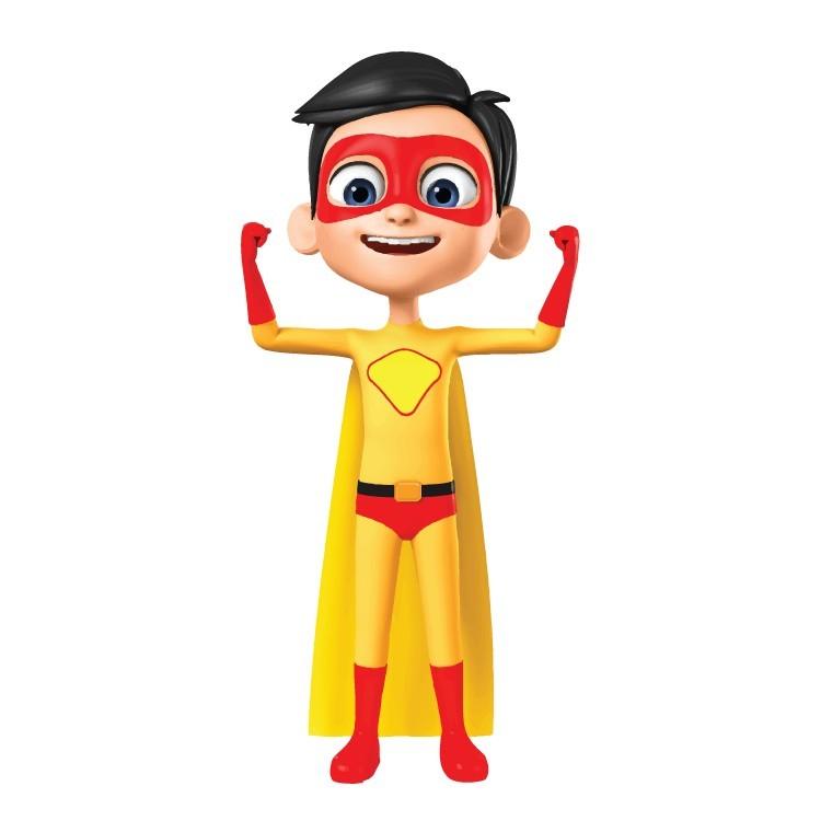 Μικρός σούπερ ήρωας, Παιδικά, Αυτοκόλλητα τοίχου
