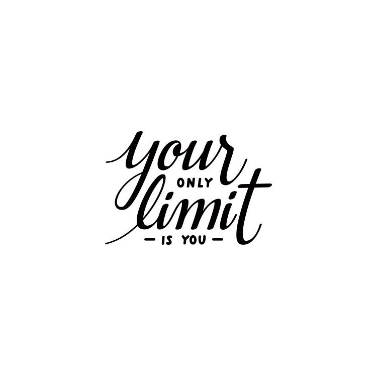 Your only limit is u, Φράσεις, Αυτοκόλλητα τοίχου