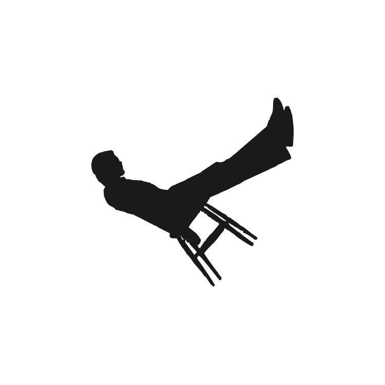 Άνθρωπος σε καρέκλα, Κρεμάστρες, Αυτοκόλλητα τοίχου