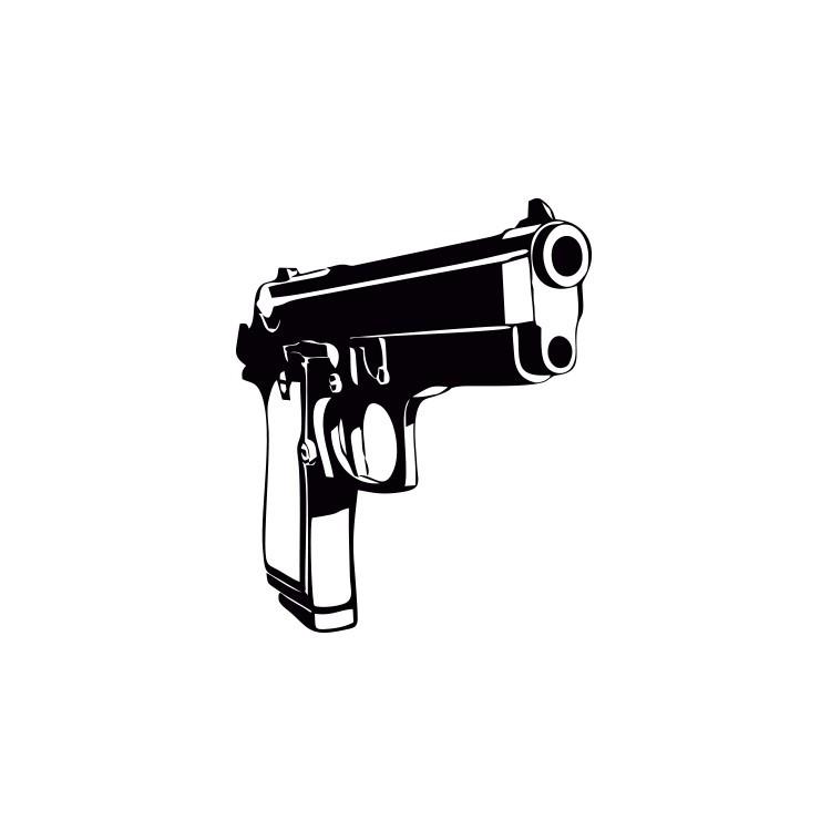 Πιστόλι, Κρεμάστρες, Αυτοκόλλητα τοίχου