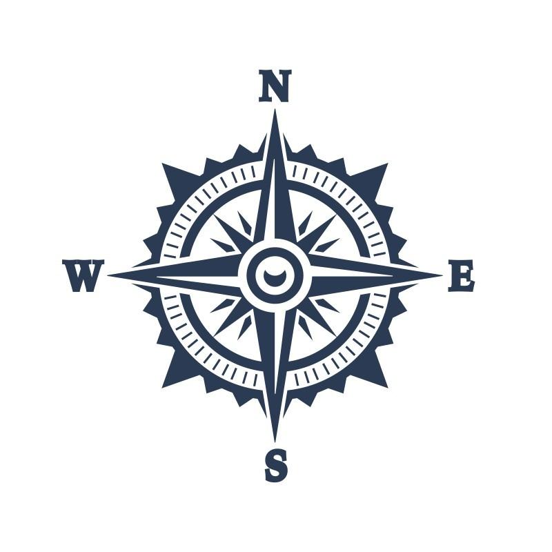 Πυξίδα, Ναυτικά, Αυτοκόλλητα τοίχου