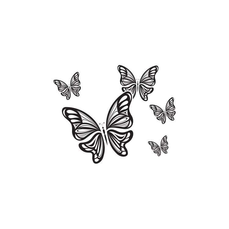 Πεταλούδες μικρές-μεγάλες, Ζώα, Αυτοκόλλητα τοίχου