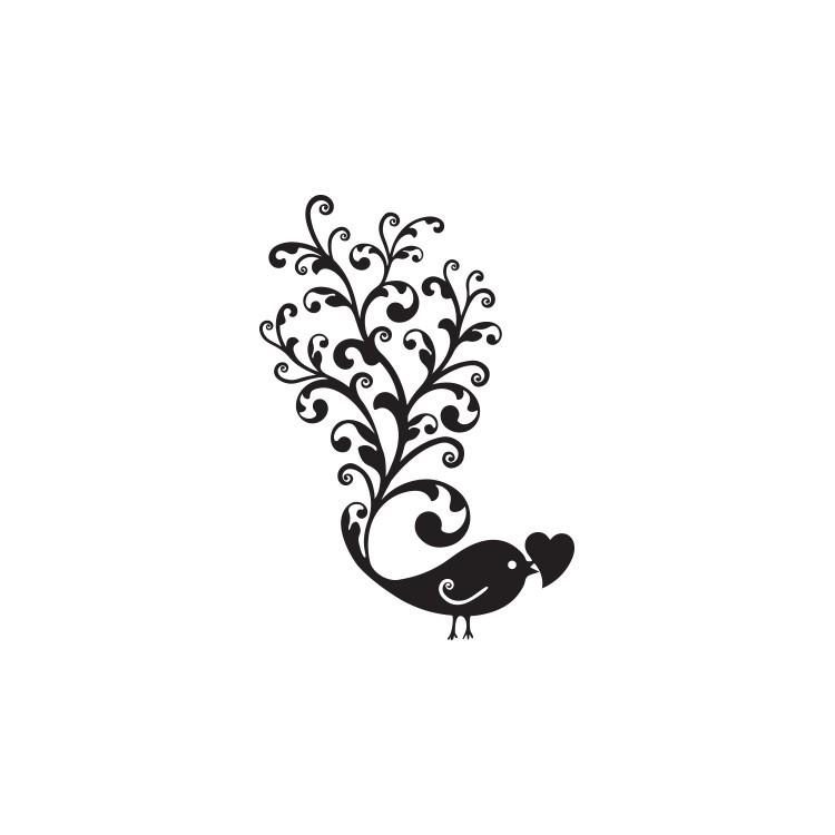 Πουλί με ουρά, Ζώα, Αυτοκόλλητα τοίχου