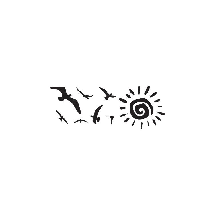 Ήλιος και πουλιά, Ζώα, Αυτοκόλλητα τοίχου