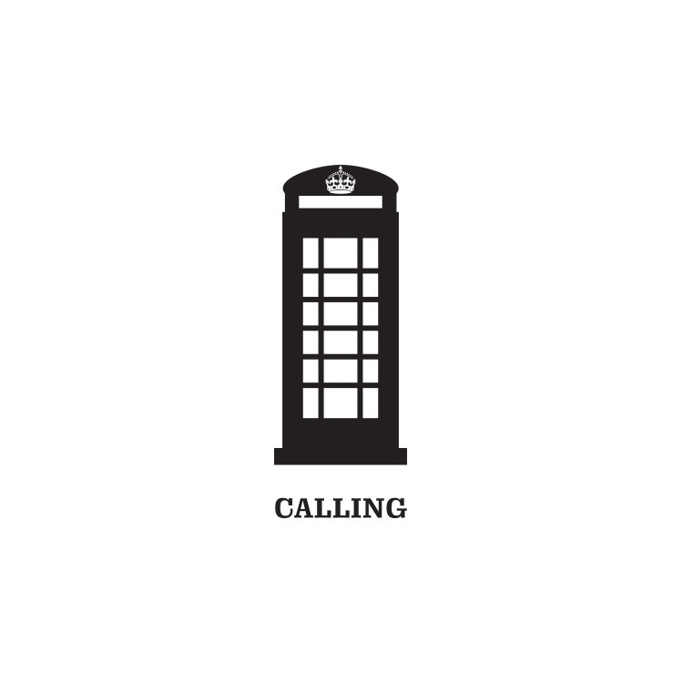 Τηλεφωνικός θάλαμος, Λονδίνο, Αυτοκόλλητα τοίχου