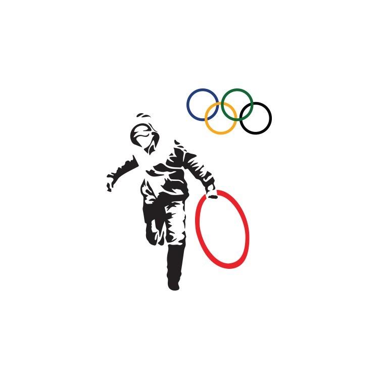 Olympics, Banksy, Αυτοκόλλητα τοίχου