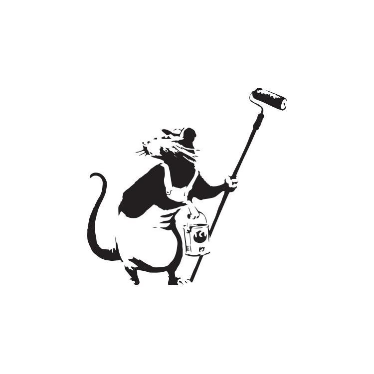 Rat painter, Banksy, Αυτοκόλλητα τοίχου