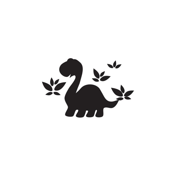 Δεινόσαυρος με φύλλα, Μαυροπίνακες, Αυτοκόλλητα τοίχου