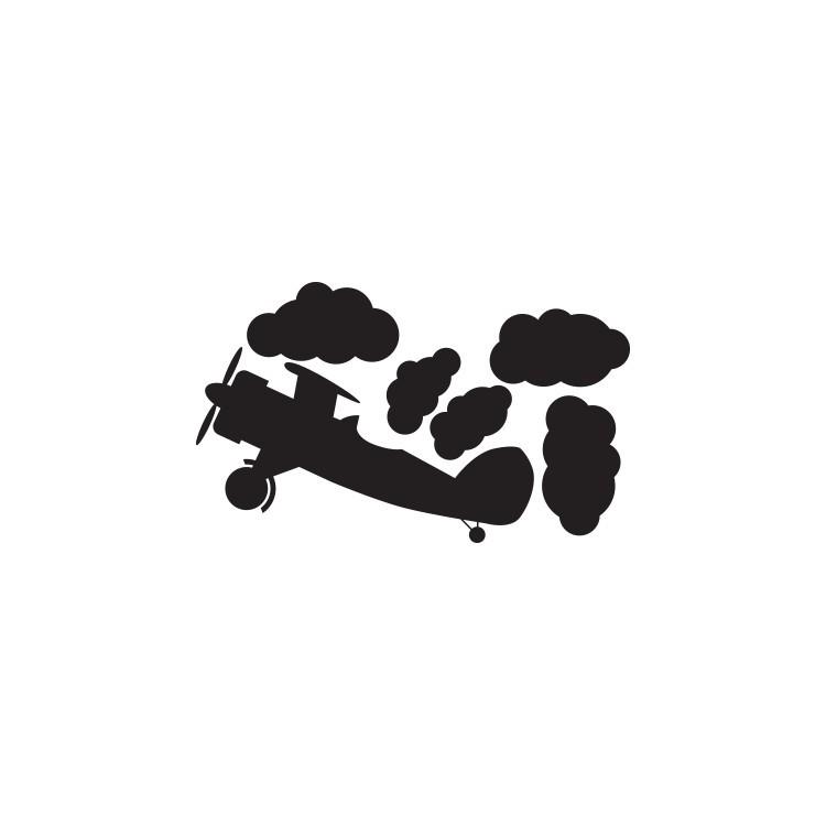 Αεροπλάνο στα σύννεφα, Μαυροπίνακες, Αυτοκόλλητα τοίχου