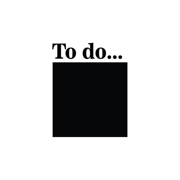 To do.., Μαυροπίνακες, Αυτοκόλλητα τοίχου