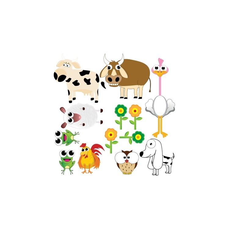 Ζώα, Παιδικά, Mini Pack αυτοκόλλητα