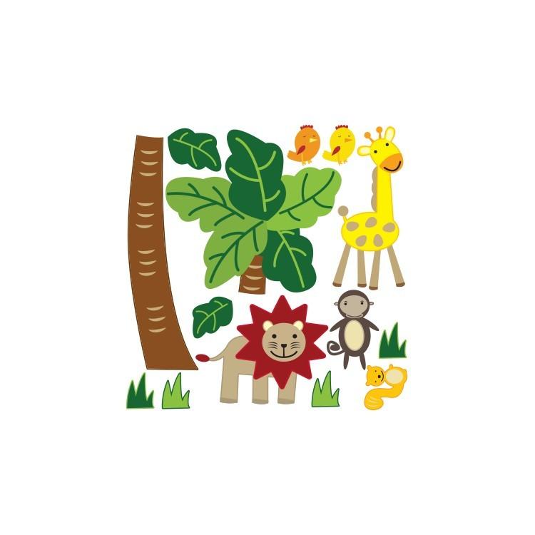 Zώα της ζούγκλας, Παιδικά, Mini Pack αυτοκόλλητα