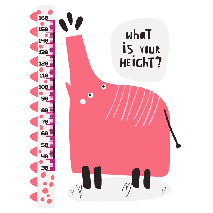 Elephant..your height?, Αναστημόμετρα, Αυτοκόλλητα τοίχου