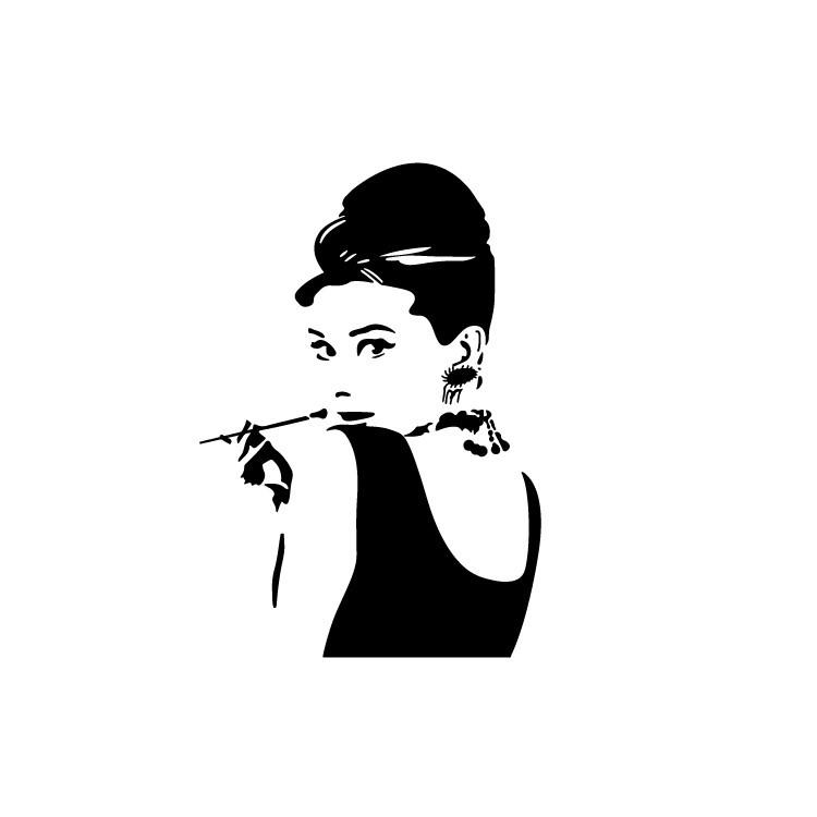 Audrey, Φιγούρες, Αυτοκόλλητα τοίχου