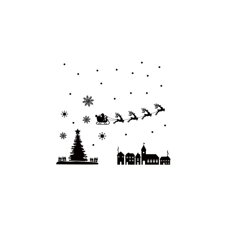 Santa Claus, Χριστουγεννιάτικα, Αυτοκόλλητα βιτρίνας