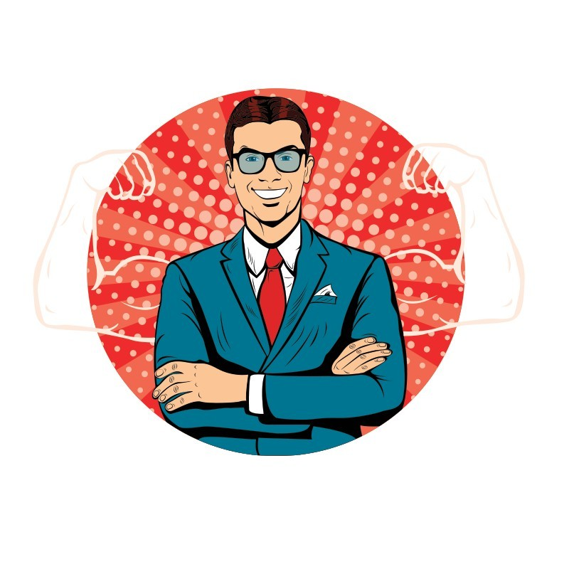Businessman, Κόμικς, Αυτοκόλλητα τοίχου