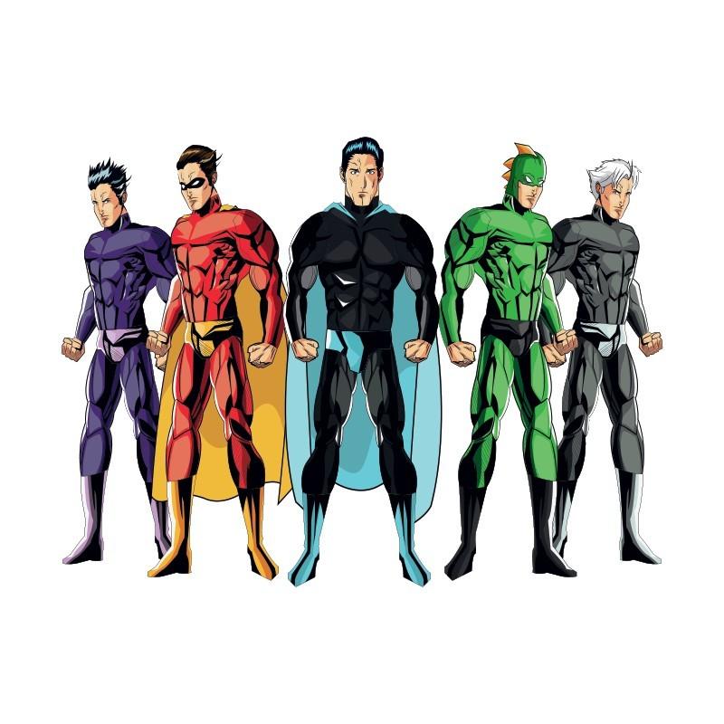 Ομάδα σούπερ ήρωες, Κόμικς, Αυτοκόλλητα τοίχου