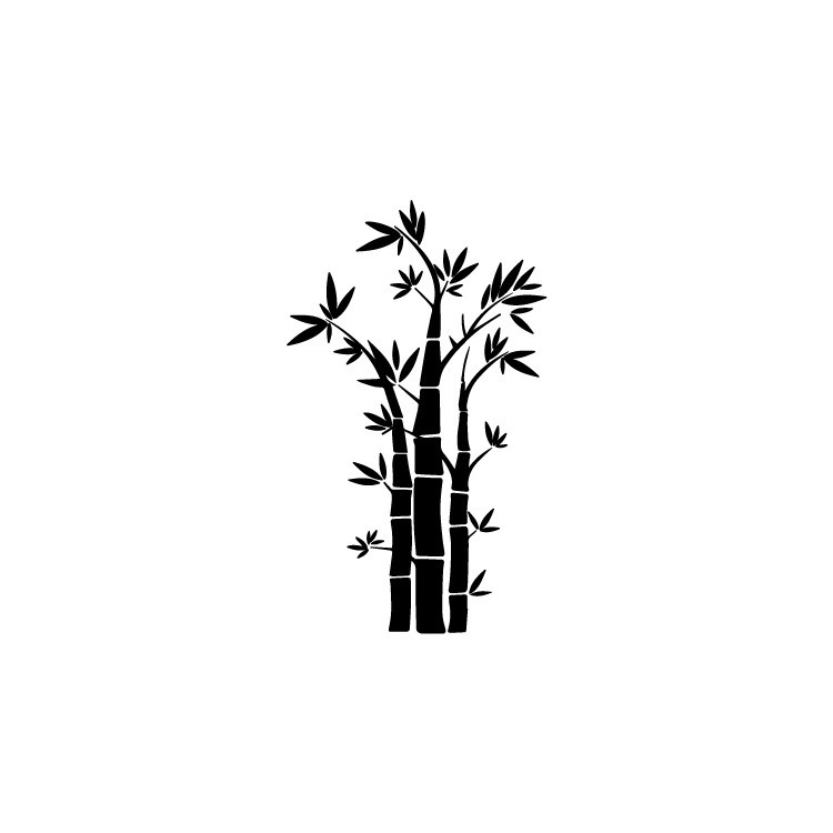Μπαμπού, Δέντρα - Λουλούδια, Αυτοκόλλητα τοίχου